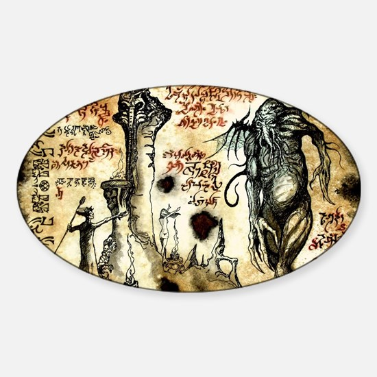 Cthulhu Rituals Sticker (Oval)