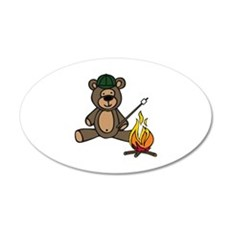 Campfire Teddy Bear Wall Decal