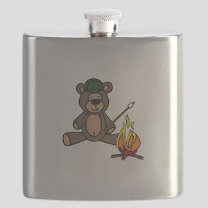 Campfire Teddy Bear Flask