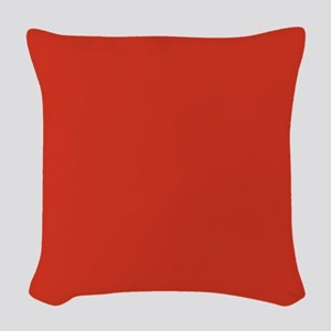Solid Red Woven Throw Pillow