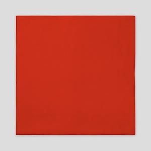Solid Red Queen Duvet