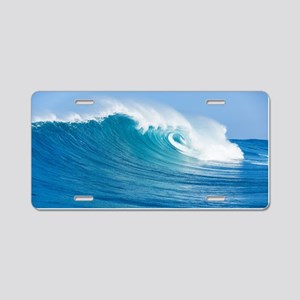 Blue Wave Aluminum License Plate