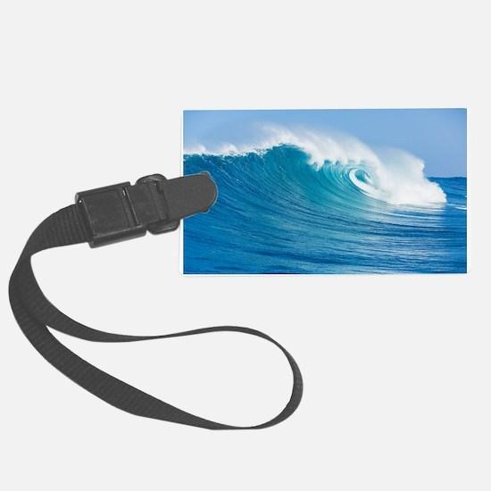 Blue Wave Luggage Tag