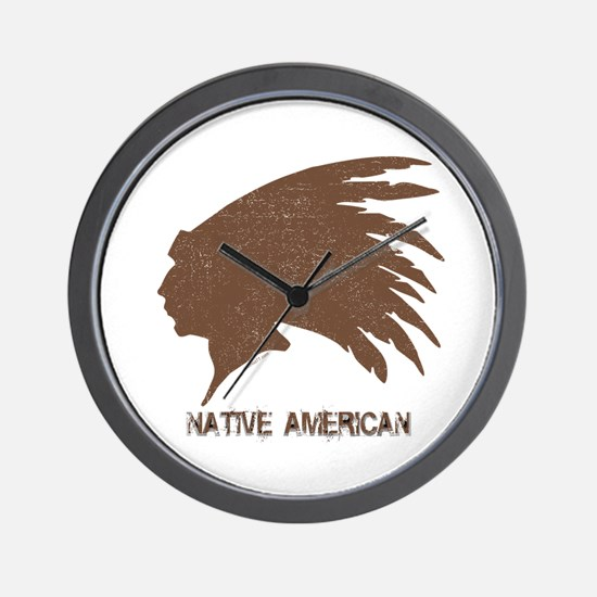 Native American 2 Wall Clock