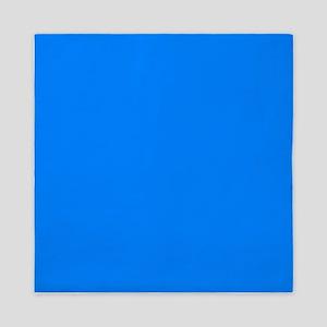 Solid Bright Blue Queen Duvet