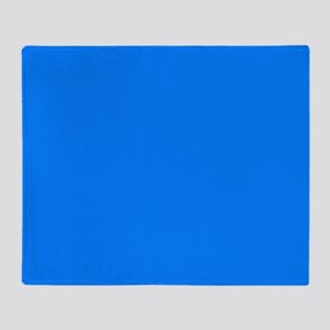 Solid Bright Blue Throw Blanket