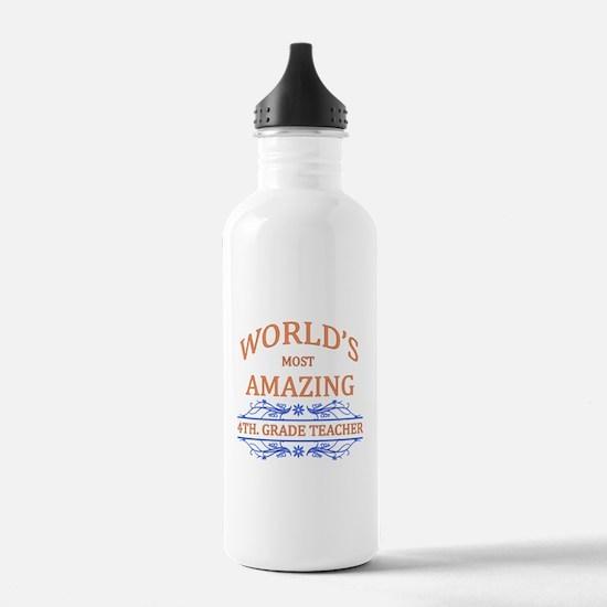 4th. Grade Teacher Water Bottle