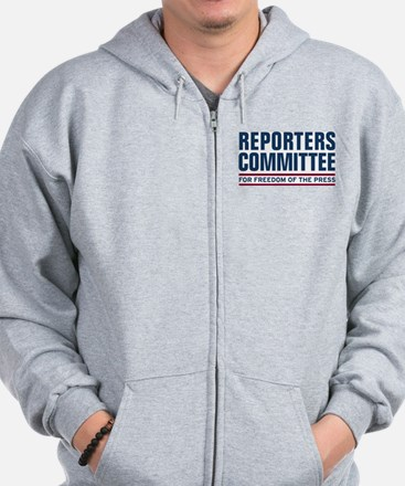Cool News media Zip Hoodie