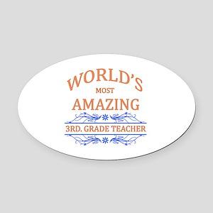 3rd. Grade Teacher Oval Car Magnet