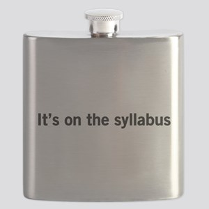 Its on the syllabus Flask