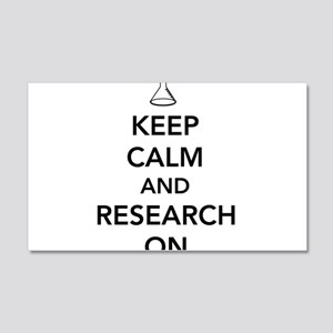 Keep calm and research on Wall Decal