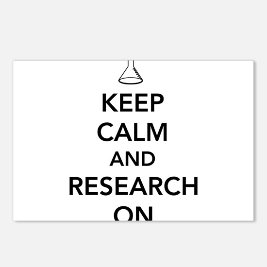 Keep calm and research on Postcards (Package of 8)