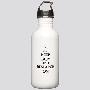 Keep calm and research on Water Bottle