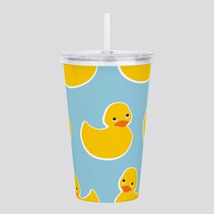 Cute Ducky Pattern Acrylic Double-wall Tumbler