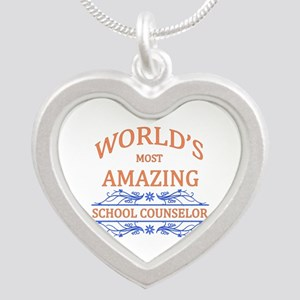 School Counselor Silver Heart Necklace