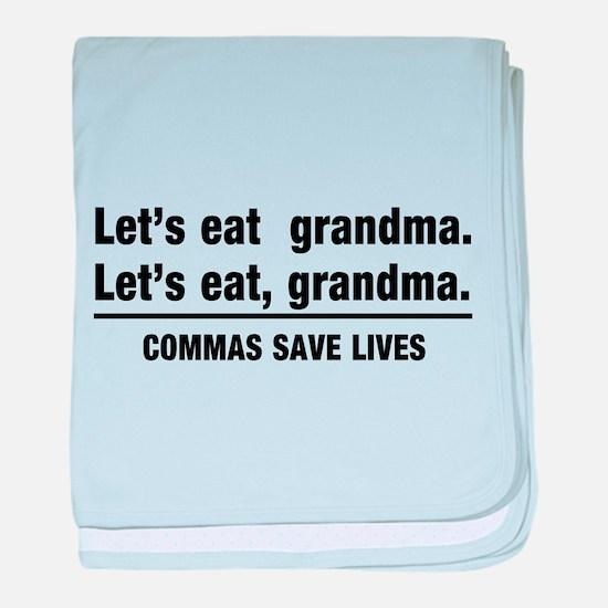 lets eat grandma baby blanket
