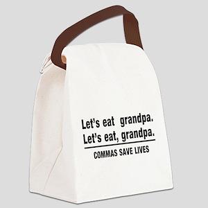 lets eat grandpa Canvas Lunch Bag