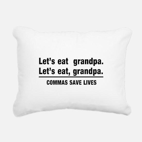 lets eat grandpa Rectangular Canvas Pillow