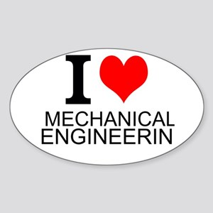 I Love Mechanical Engineering Sticker