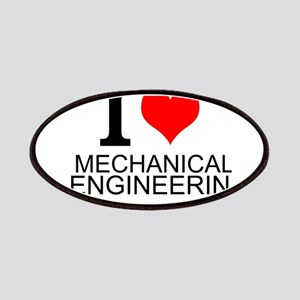 I Love Mechanical Engineering Patches