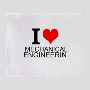 I Love Mechanical Engineering Throw Blanket