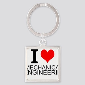 I Love Mechanical Engineering Keychains