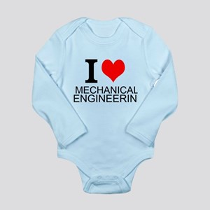 I Love Mechanical Engineering Body Suit