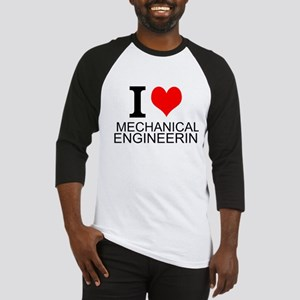 I Love Mechanical Engineering Baseball Jersey