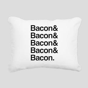 Bacon and bacon Rectangular Canvas Pillow