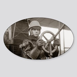 Young Aviator, 1912 Sticker (Oval)