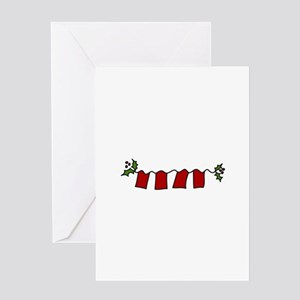 Holly Letters Greeting Cards