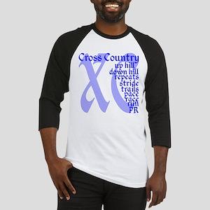 Cross Country XC blue Baseball Jersey