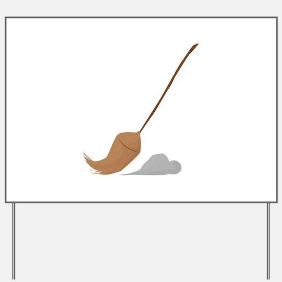 Broom Sweep Yard Sign