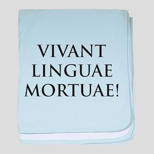 long live dead languages baby blanket