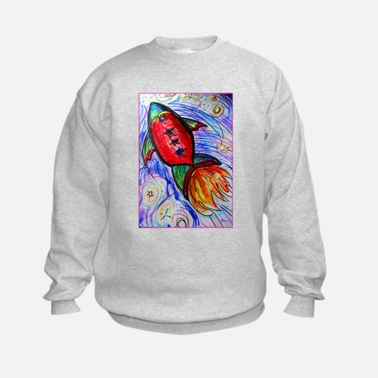 rocket, spaceship art Sweatshirt