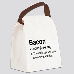 Bacon Definition Canvas Lunch Bag