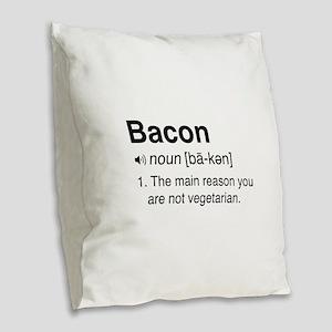Bacon Definition Burlap Throw Pillow