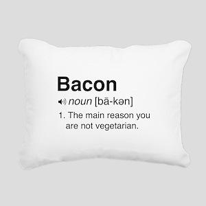 Bacon Definition Rectangular Canvas Pillow