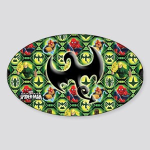 Ultimate Spider-man: Iron Fist Sticker (Oval)