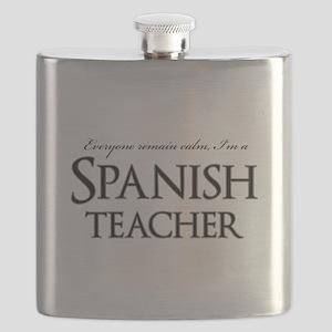 Remain Calm Spanish Teacher Flask