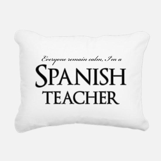 Remain Calm Spanish Teac Rectangular Canvas Pillow