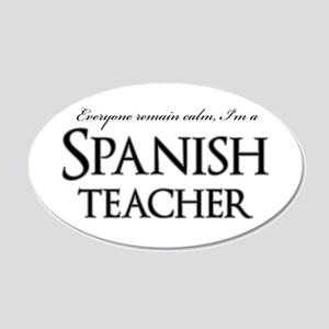 Remain Calm Spanish Teacher 20x12 Oval Wall Decal