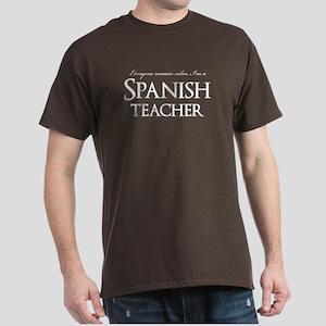 Remain Calm Spanish Teacher Dark T-Shirt