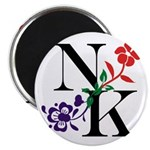 Nicki Kris Logo - Black Lettering Magnets