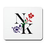Nicki Kris Logo - Black Lettering Mousepad