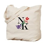 Nicki Kris Logo - Black Lettering Tote Bag