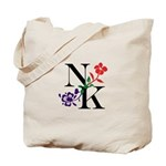 Nicki Kris Logo - Black Lettering Tote Bag