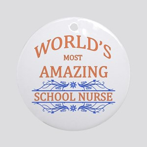 School Nurse Ornament (Round)