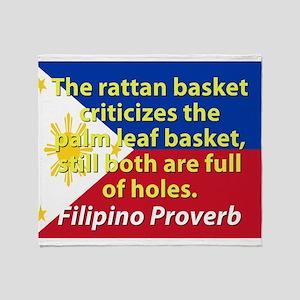 The Rattan Basket Criticizes Throw Blanket