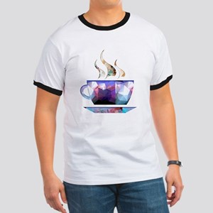 Mosaic Polygon Colorful Cup of Cocoa T-Shirt
